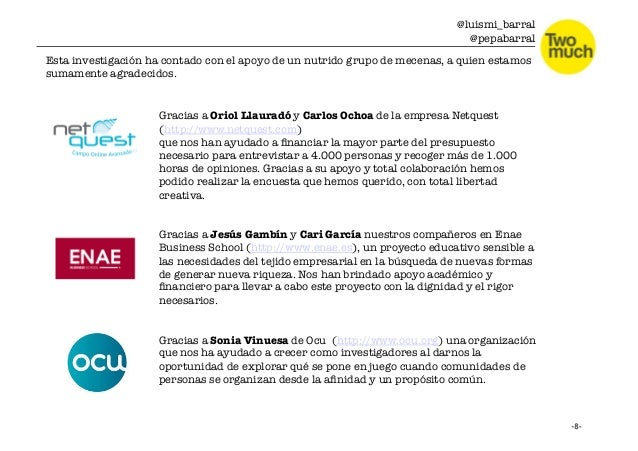 @luismi_barral @pepabarral Gracias a Oriol Llauradó y Carlos Ochoa de la empresa Netquest  (http://www.netquest.com) que n...