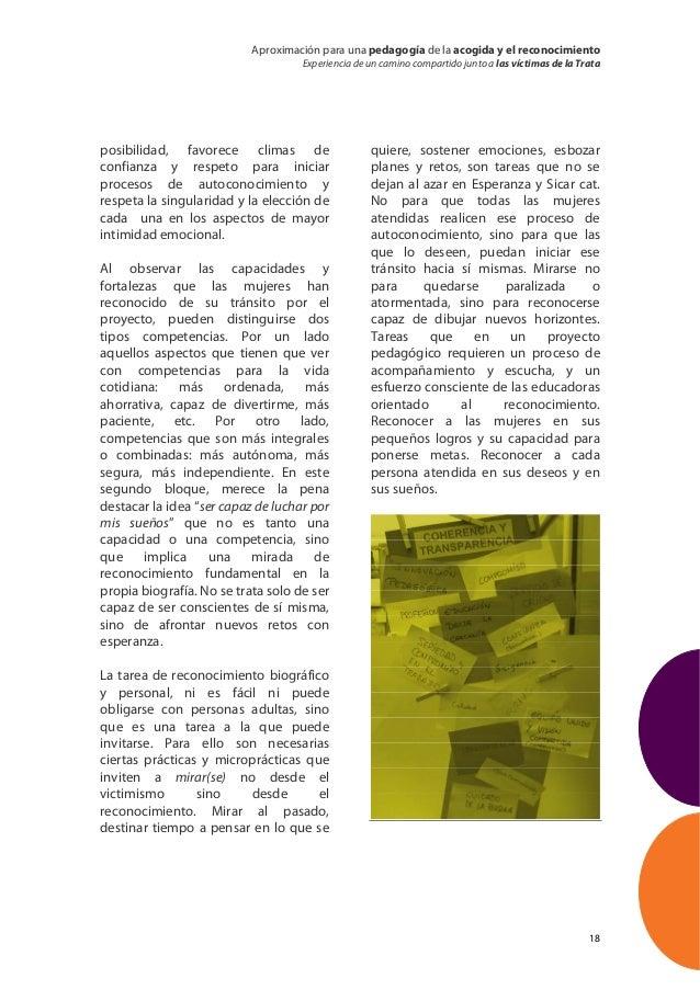 Aproximación para una pedagogía de la acogida y el reconocimiento                                    Experiencia de un cam...