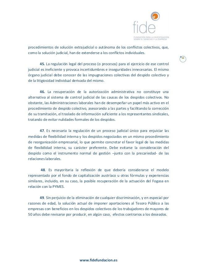 Conclusiones y recomendaciones grupo fide 2016 por un for Que es un proceso extrajudicial