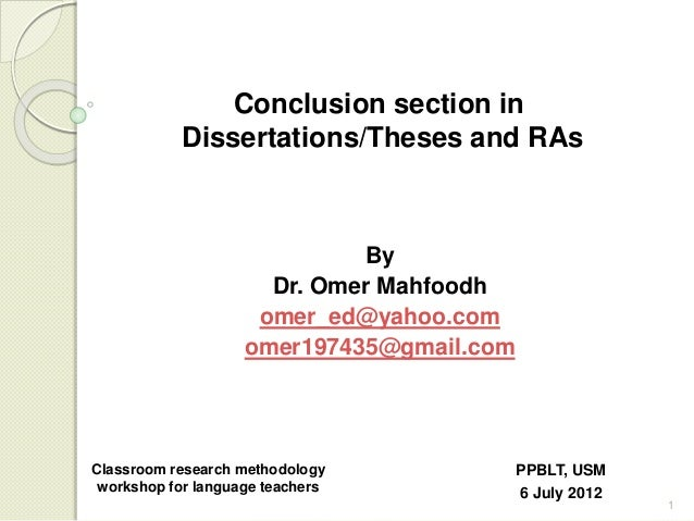 writing dissertation conclusion chapter Dissertation Writing: How to Write your Conclusion