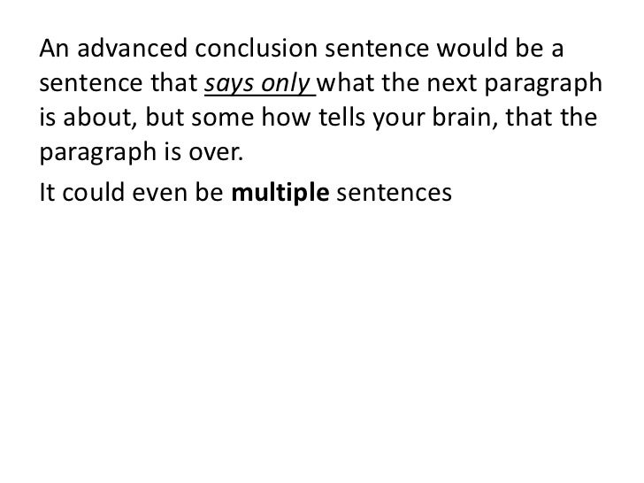 conclusion in sentence