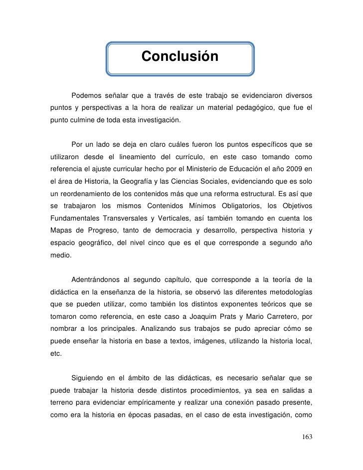 Conclusión       Podemos señalar que a través de este trabajo se evidenciaron diversospuntos y perspectivas a la hora de r...
