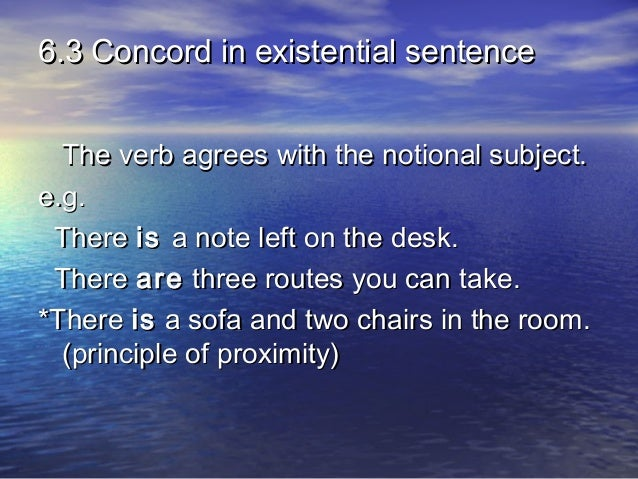 what is notional concord