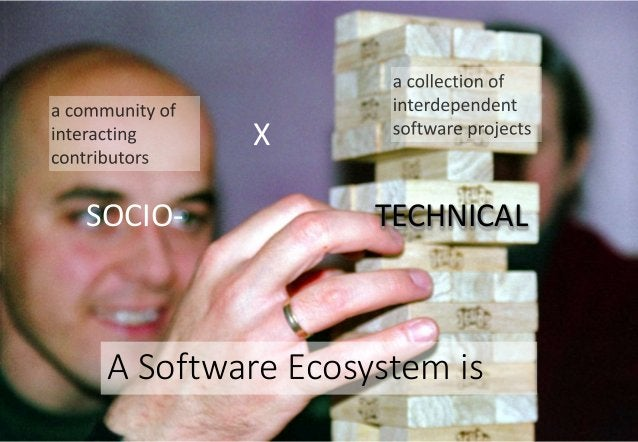 SOCIO- TECHNICAL A Software Ecosystem is X