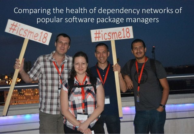 Comparing the health of dependency networks of popular software package managers