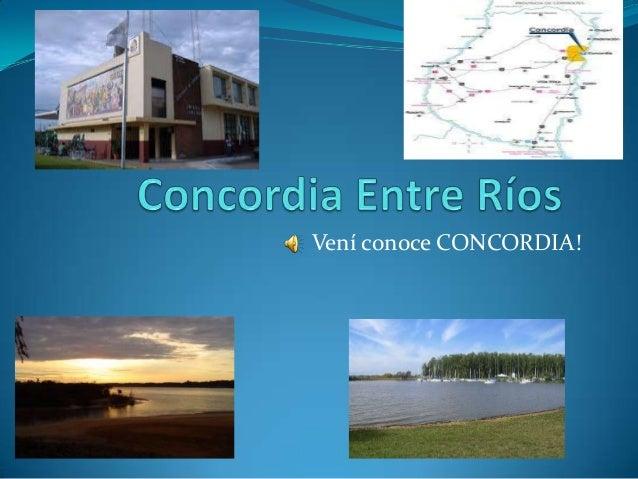Vení conoce CONCORDIA!
