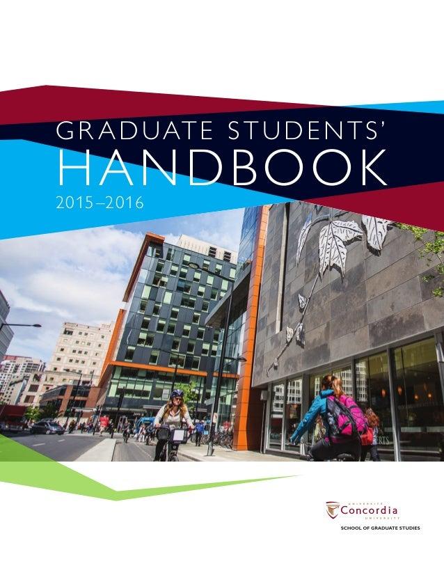 Concordia school of graduate studies thesis