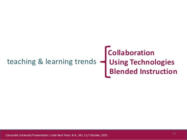 Collaboration teaching & learning trends                                                          Using Technologies      ...