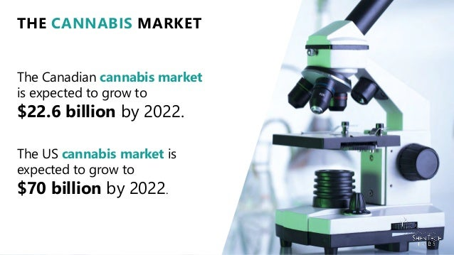 The Canadian cannabis market is expected to grow to $22.6 billion by 2022. THE CANNABIS MARKET The US cannabis market is e...