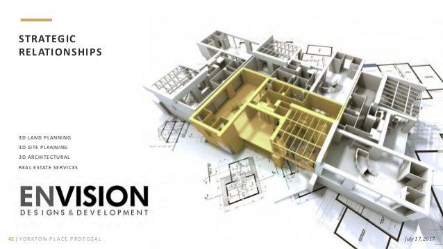 3D LAND PLANNING 3D SITE PLANNING 3D ARCHITECTURAL REAL ESTATE SERVICES STRATEGIC RELATIONSHIPS July 17, 201742   YO R K T...