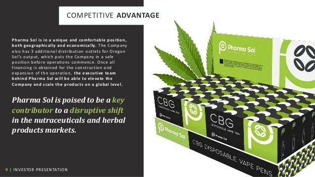 9   INVESTOR PRESENTATION COMPETITIVE ADVANTAGE Pharma Sol is in a unique and comfortable position, both geographically an...