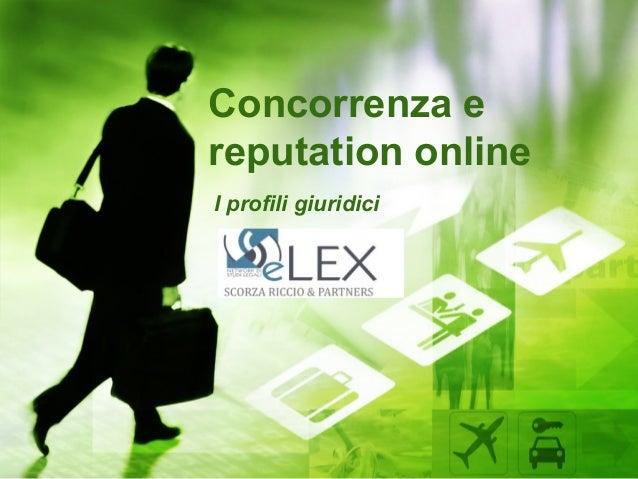 Concorrenza ereputation onlineI profili giuridici