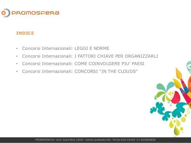 Concorsi a premi internazionali Slide 2