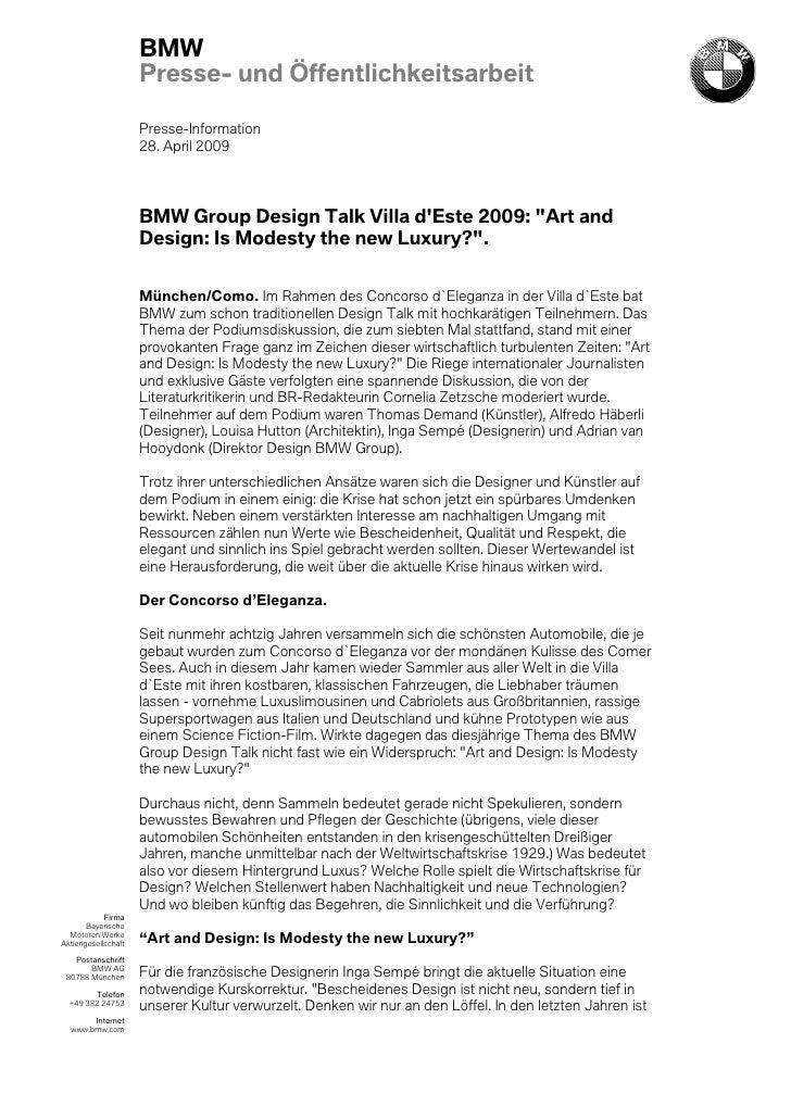 BMW                     Presse- und Öffentlichkeitsarbeit                     Presse-Information                     28. A...