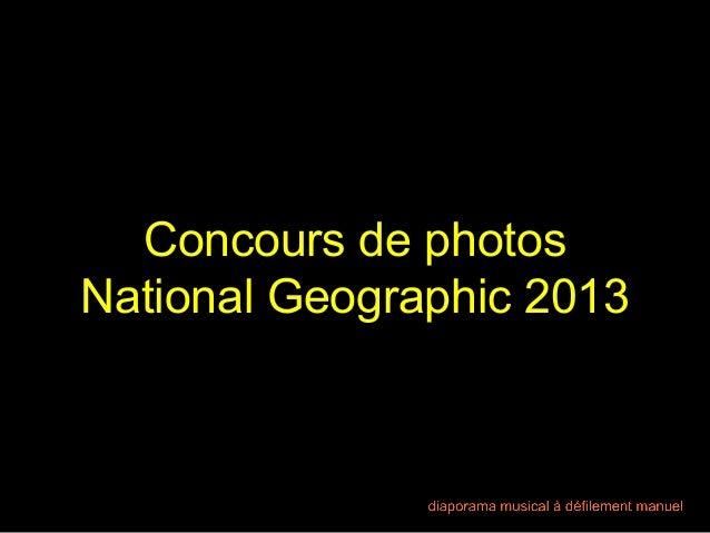 Concours de photos National Geographic 2013