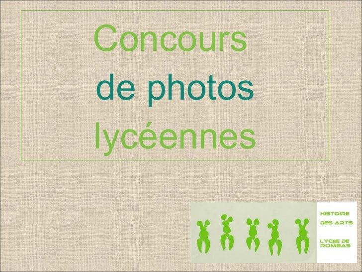 Concours  de photos lycéennes