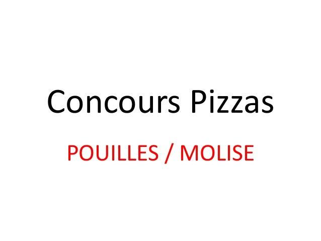 Concours Pizzas POUILLES / MOLISE