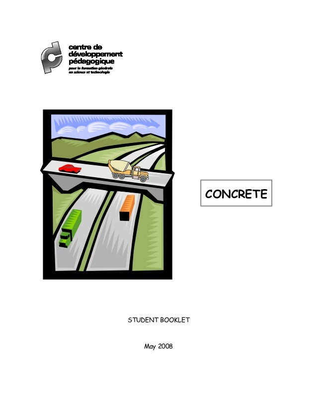 CONCRETE STUDENT BOOKLET May 2008