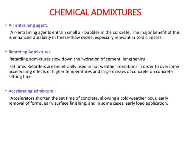mineral and chemical admixtures pdf