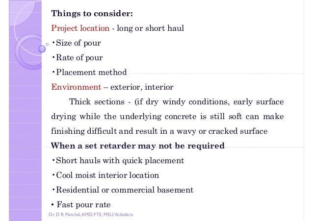 Concrete admixtures dr d r panchal for Best temperature to pour concrete