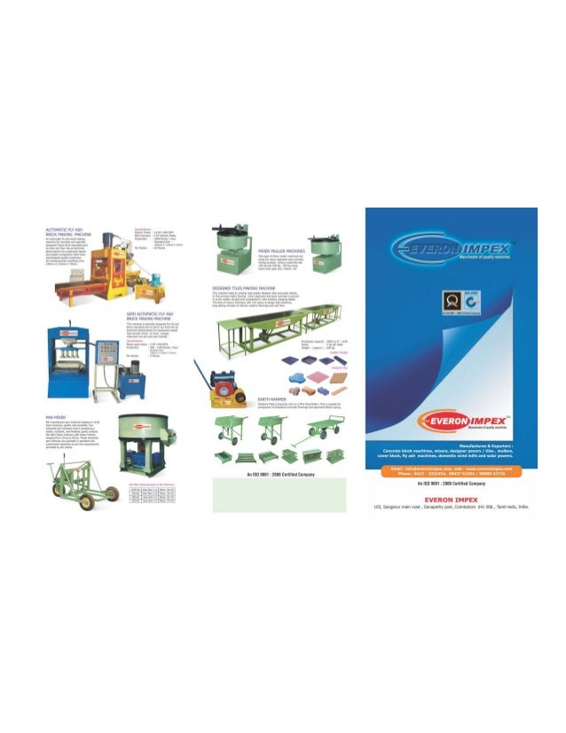 Everon Impex, Coimbatore, Construction and Concrete Block Machines