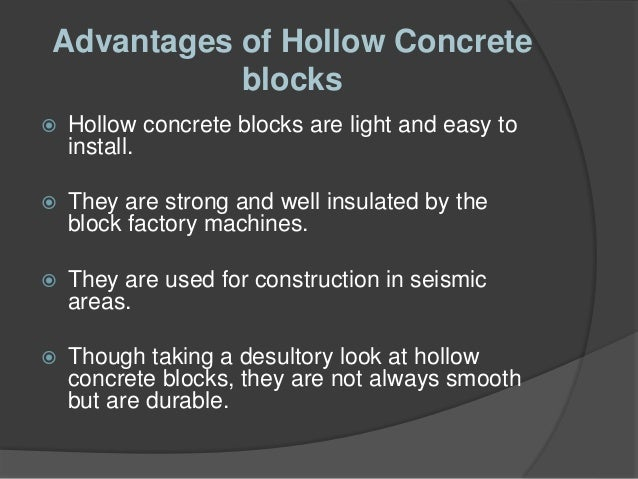 Various Types Of Concrete Blocks Used In Commercial