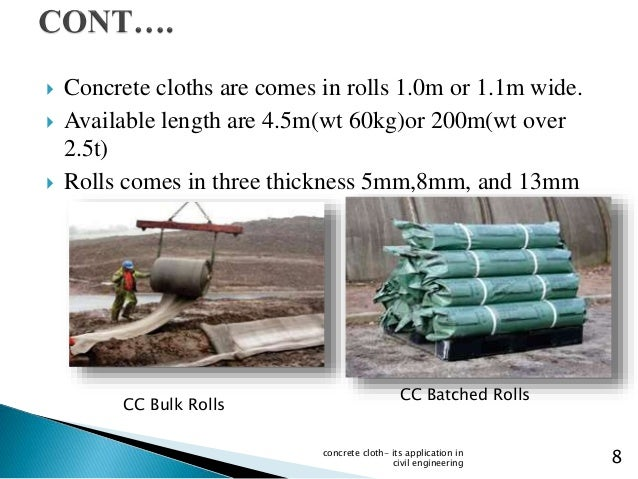 Rolls In Cement : Concrete cloth its uses and applications