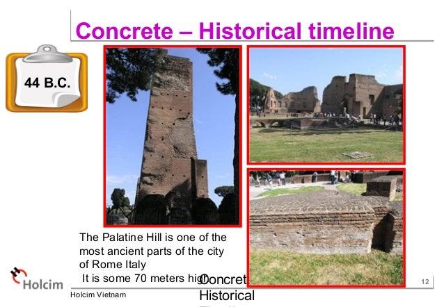 Pozzolana Cement Italy : Concrete historical timeline