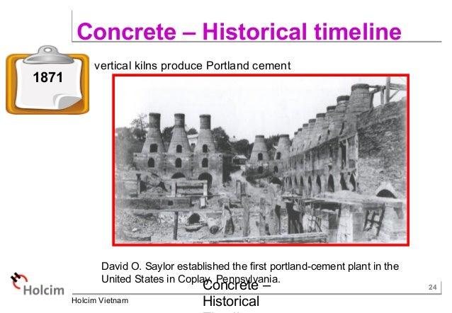 United States Cement Plants : Concrete historical timeline