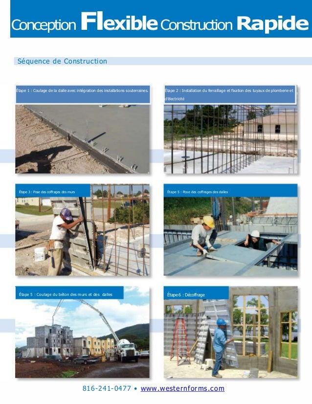 816-241-0477 • www.westernforms.com Étape 1 : Coulage de la dalle avec intégration des installations souterraines. Étape 2...