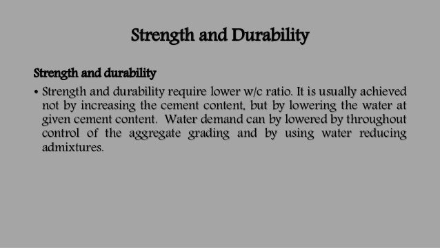 strength and durability relationship