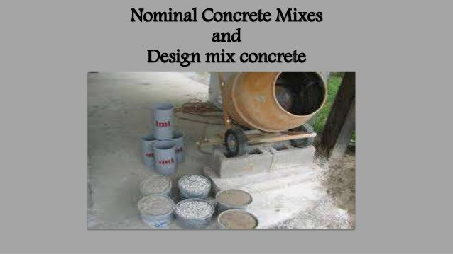 concrete mix design homework