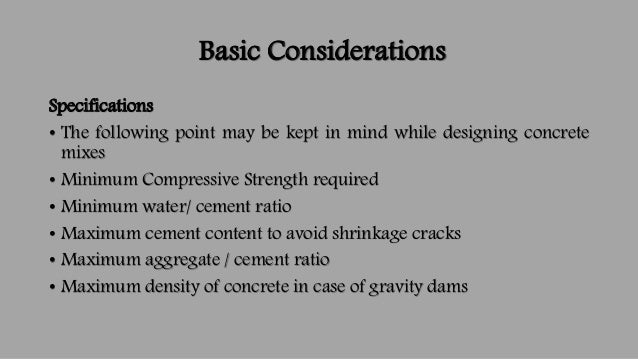 high density concrete mix design