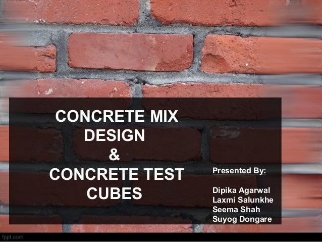 Fly Ash Concrete >> Concrete mix design