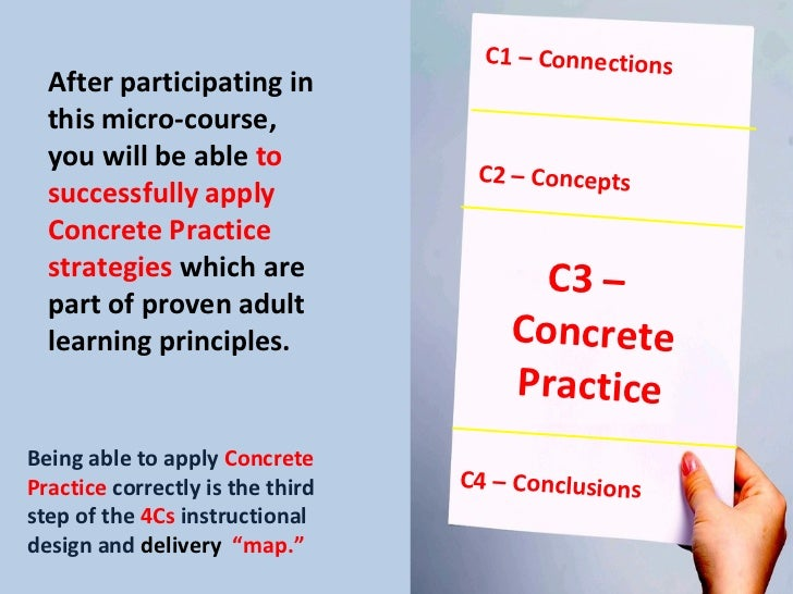 When They DO It, They've GOT It! How to Use Concrete Practice When Training Slide 3