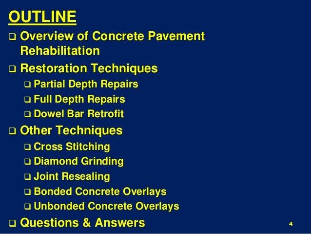 Repair Options For Concrete Roadways