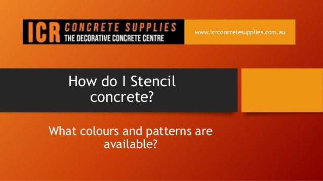 how do i stencil concrete. Black Bedroom Furniture Sets. Home Design Ideas