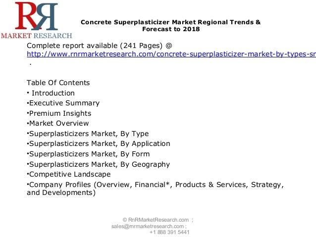 Concrete Superplasticizer Market to reach $4.6 Billion by 2018 - 웹