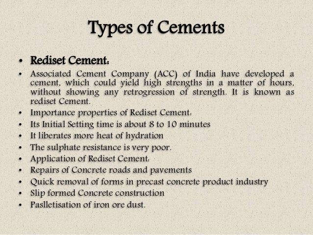 Associated Cement Companies : Concrete technology unit i