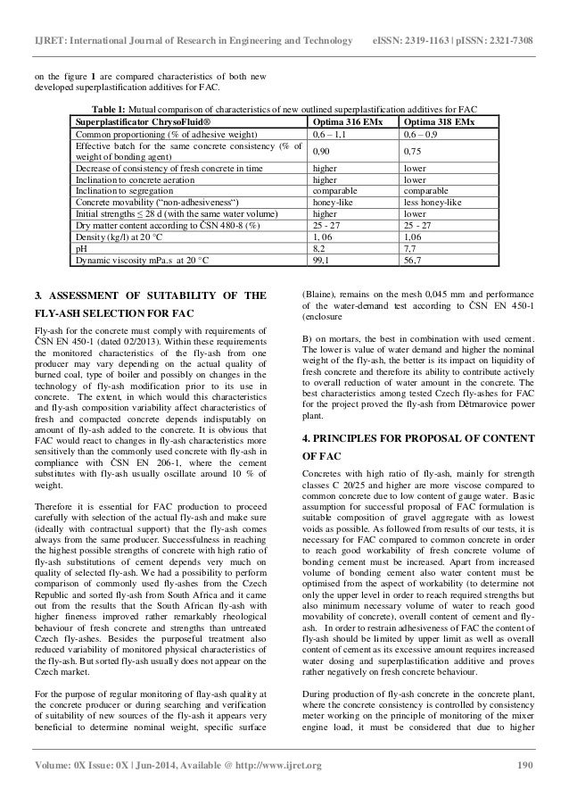 Concrete with high content of fly ash for common use in conditions of…