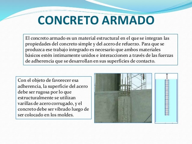 Concreto armado for El hormigon encerado es impermeable