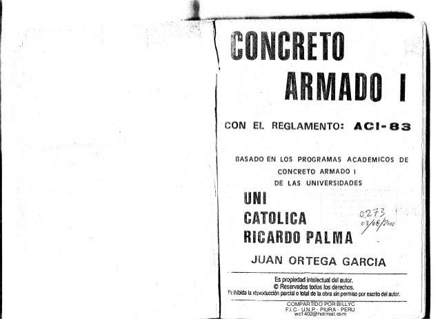 TO  ADO I  iCON EL REGLAMENTO: ACI- 83  BASADO EN LOS PROGRAMAS ACADEMICOS DE  CONCRETO ARMADO I  DE lAS UNIVERSIDADES  UN...