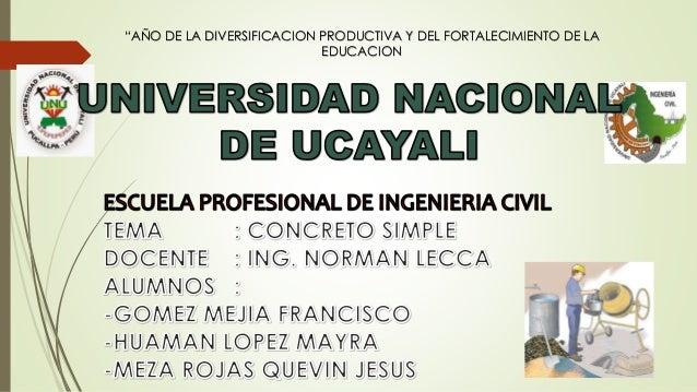 """""""AÑO DE LA DIVERSIFICACION PRODUCTIVA Y DEL FORTALECIMIENTO DE LA EDUCACION"""