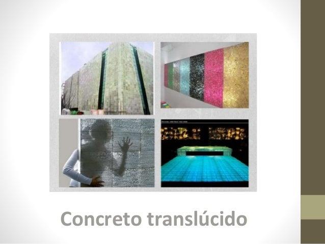 Concreto translúcido