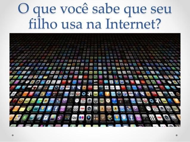 O que você sabe que seu  filho usa na Internet?