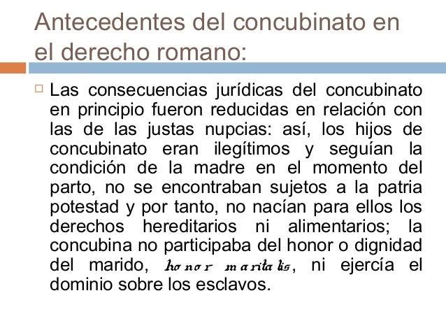Matrimonio En El Derecho Romano Utpl : Concubinato sesíón