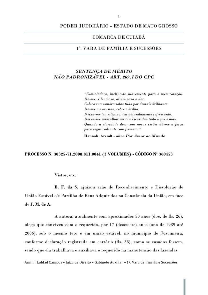 1                     PODER JUDICIÁRIO – ESTADO DE MATO GROSSO                                        COMARCA DE CUIABÁ   ...
