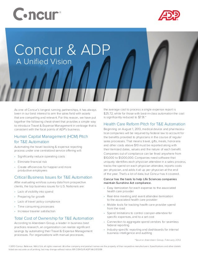 As one of Concur's longest running partnerships, it has always been in our best interest to arm the sales field with asset...