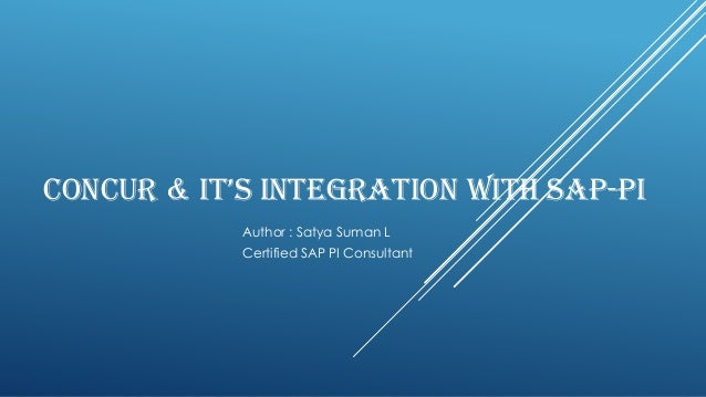Concur integration with PI solution pack