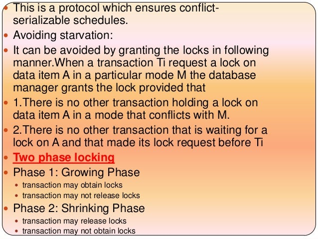 concurrency control This webpage describes the concepts of concurrency control in database management system.